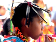 Indian 1, Chumash Girl, Santa Barbara, CA 05 by Simon Bowler
